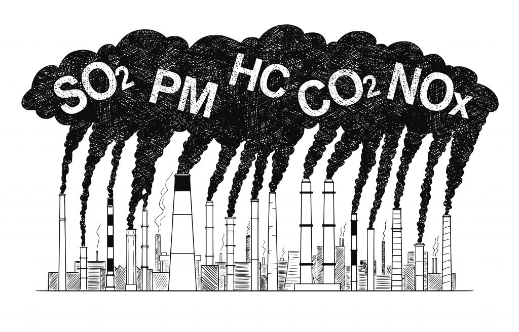 Main Air Pollutants Responsible for Gut Damage