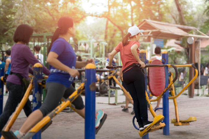 body weight exercises in parks