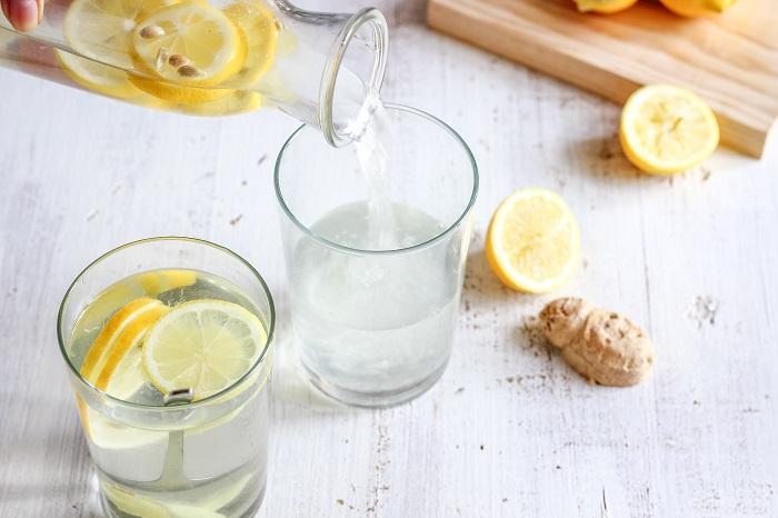 ginger and lemon water